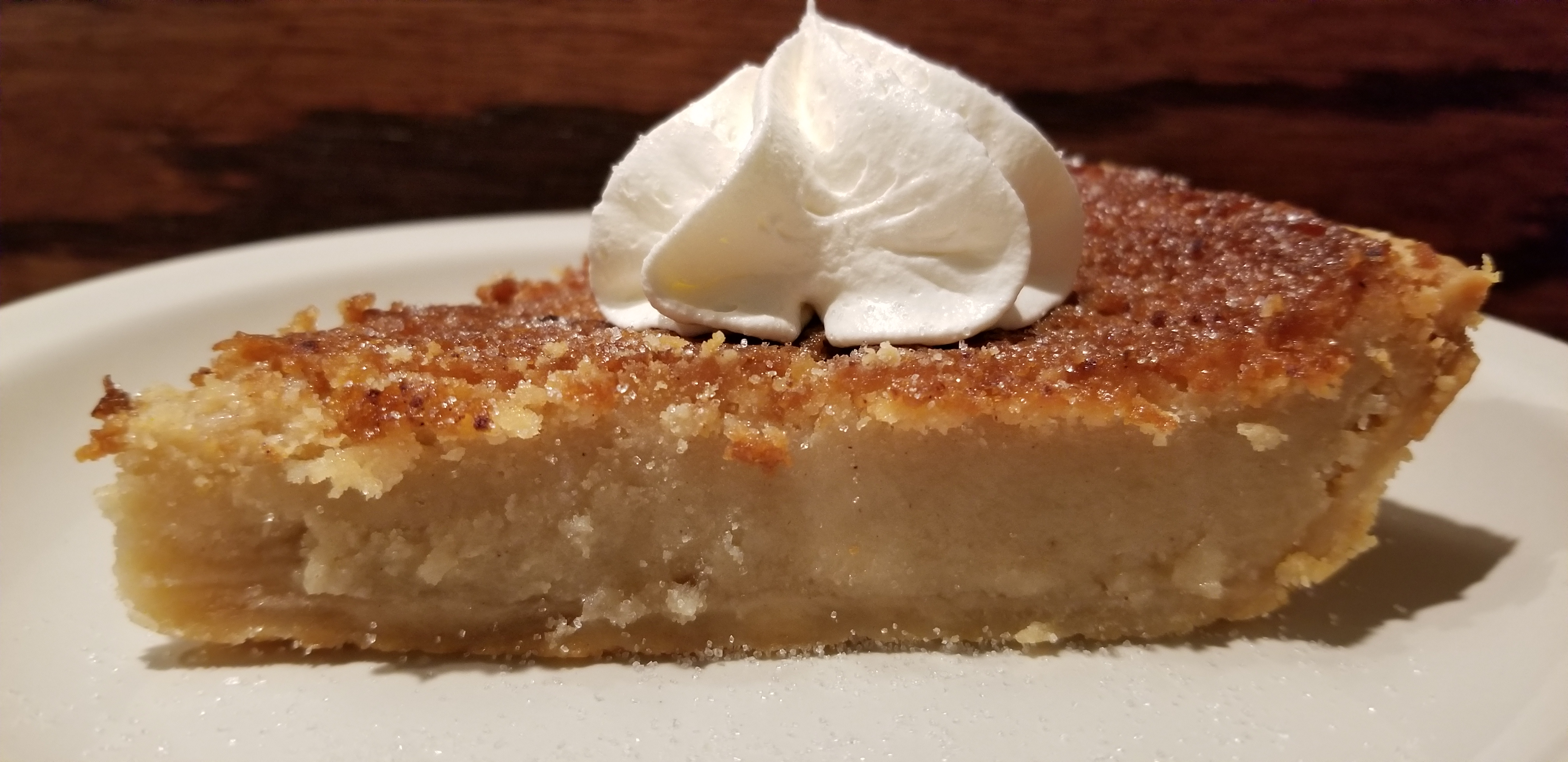Acorn Grill's Sugar Cream Pie Recipe