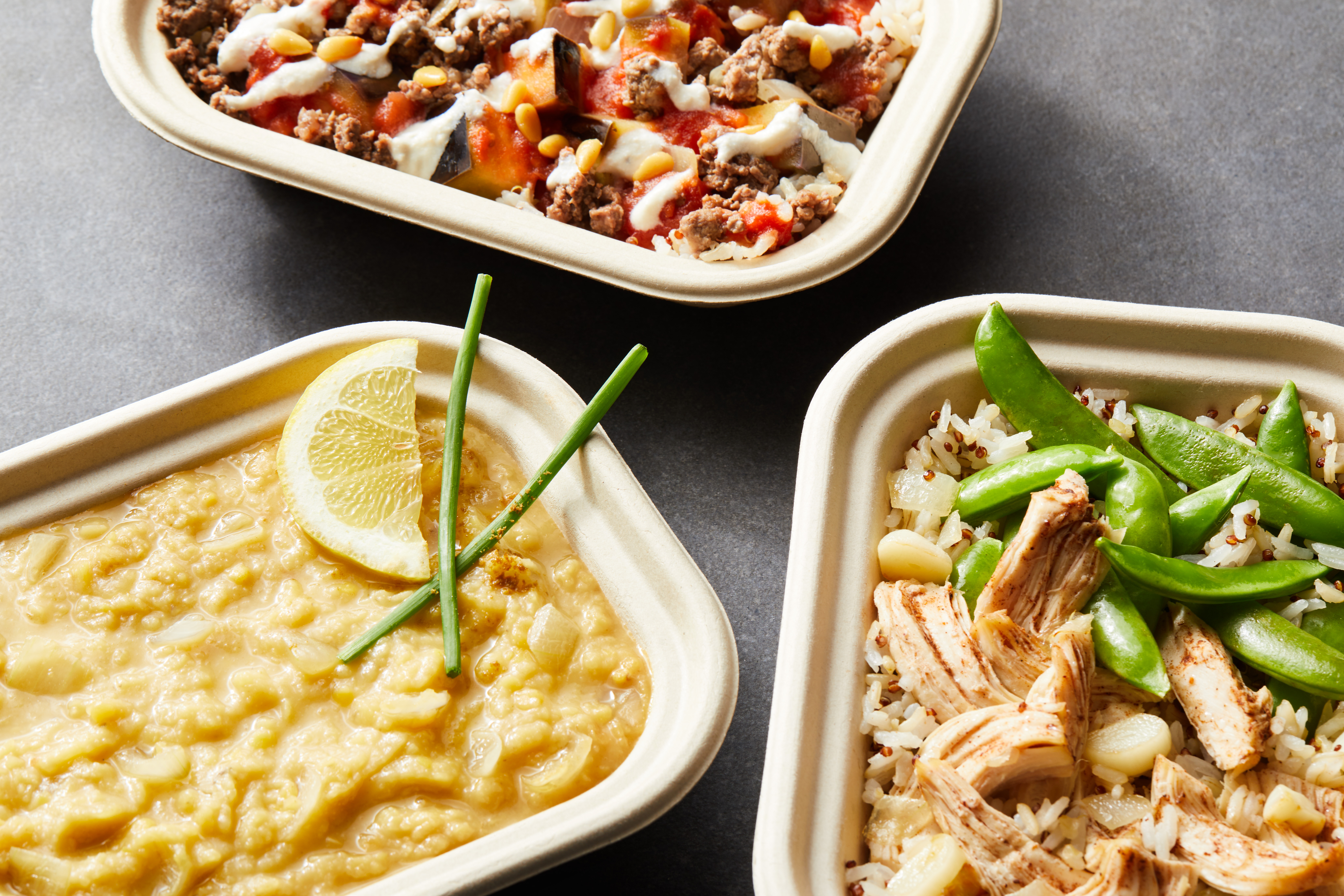 Chef prepared Mediterranean-style meals delivered.