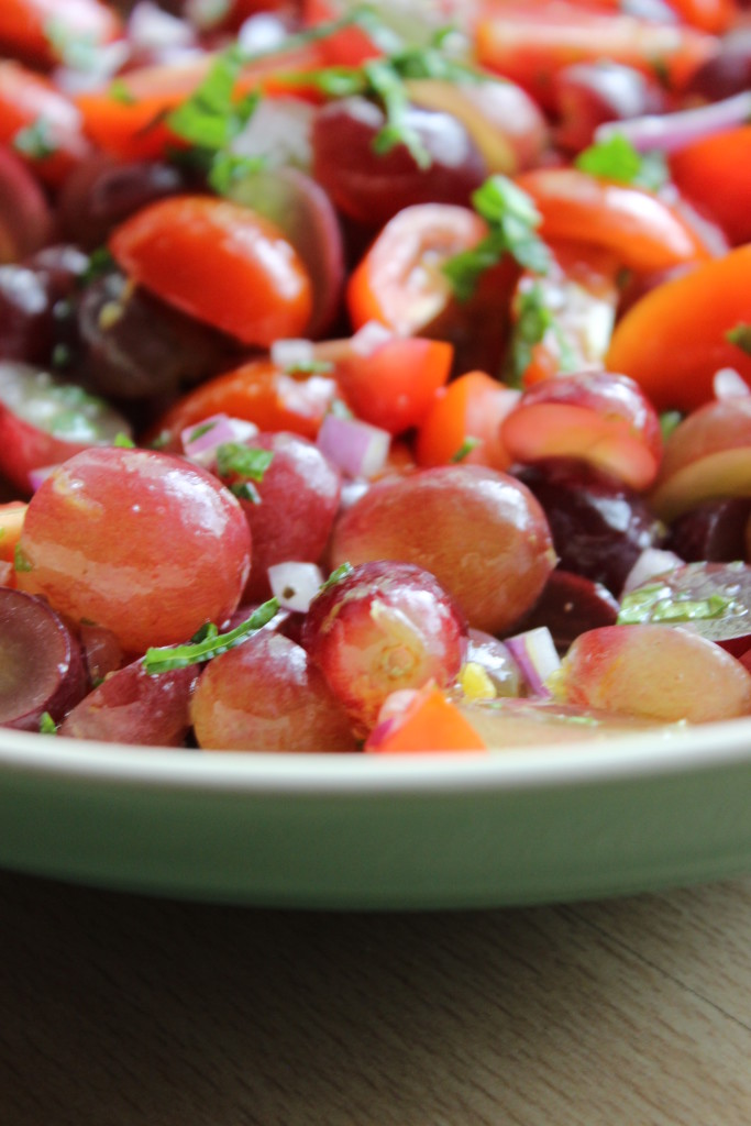 Refreshing Grape, Mint and Tomato Salad