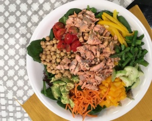 Superfood salmon salad recipe